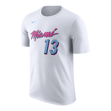 Bam Adebayo Nike Miami HEAT Vice Uniform City Edition Youth Name & Number Tee - 1