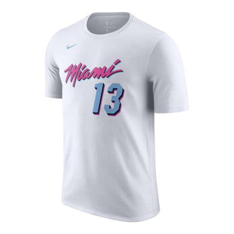 Bam Adebayo Nike Miami HEAT Vice Uniform City Edition Youth Name & Number Tee