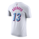 Bam Adebayo Nike Miami HEAT Vice Uniform City Edition Youth Name & Number Tee - 2