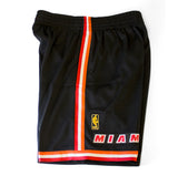 Mitchell & Ness Miami HEAT Swingman Shorts Black - 3