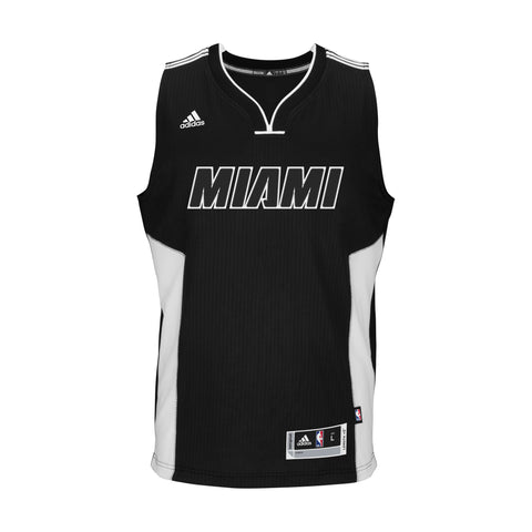 Custom miami heat adidas Black Tie Swingman jersey