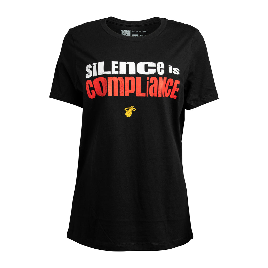 Court Culture Silence Is Compliance Women's Tee - featured image