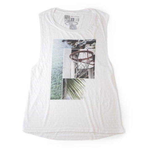Court Culture Scenic Panel Ladies Muscle Tank