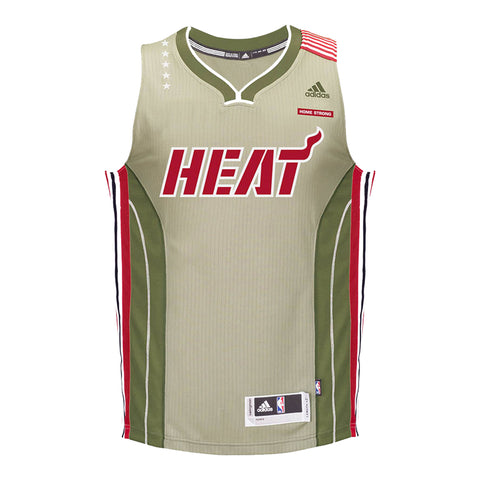 Custom Miami HEAT adidas Home Strong Swingman Jersey
