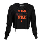 Court Culture Yes Girl Yes Cropped Hoodie - 1