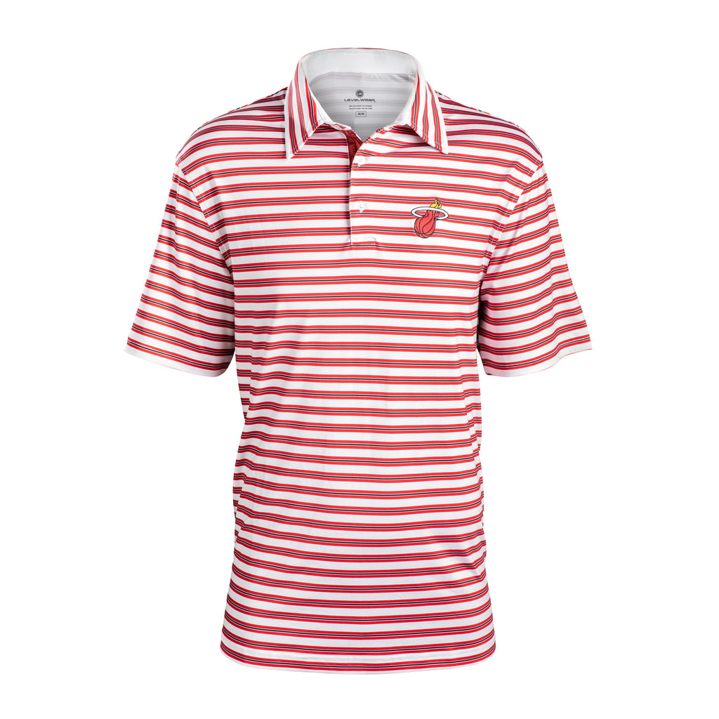 Levelwear Miami HEAT Harrison Stripe Polo - featured image