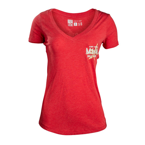 Ladies Miami Ball Club V-Neck Tee