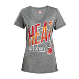Junk Food Miami HEAT Ladies Free Throw Triblend Tee - 1
