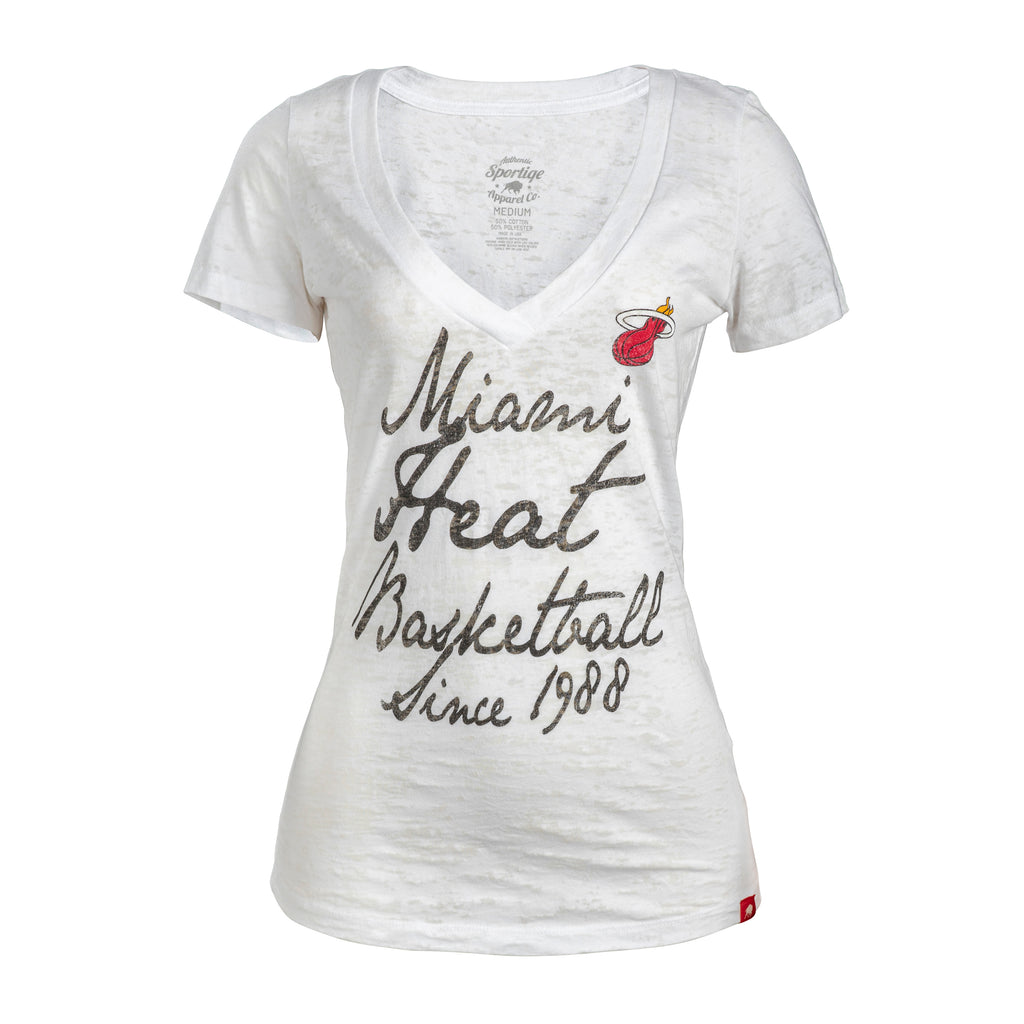 Sportiqe Miami HEAT Ladies Austin Vneck Tee - featured image