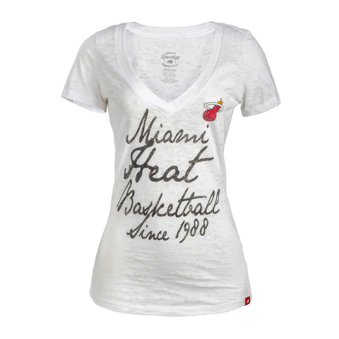Sportiqe Miami HEAT Ladies Austin Vneck Tee