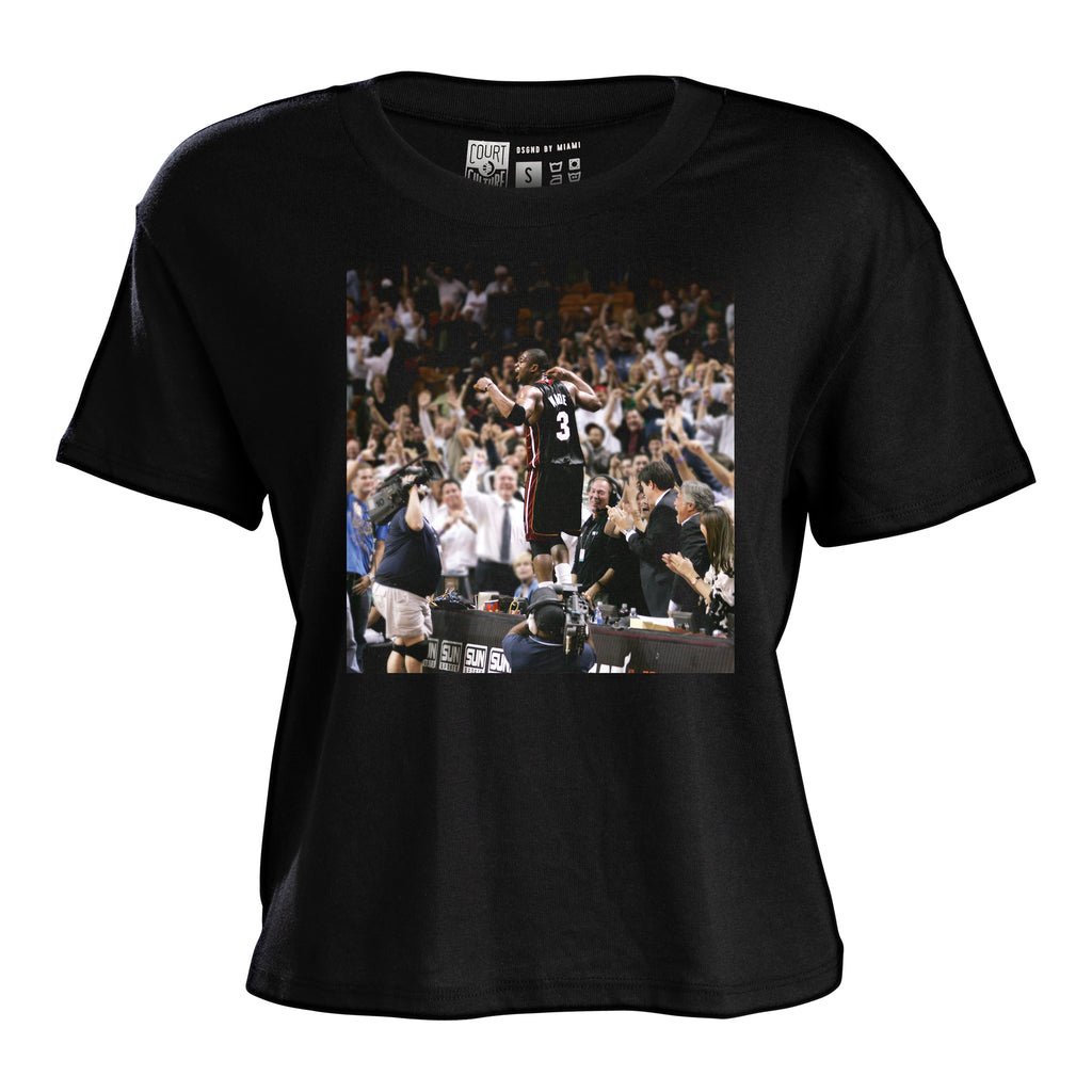 Court Culture Dwyane Wade Moments Ladies Cropped Tee - featured image