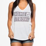 Ladies Home Strong Logo  TANK