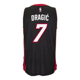 Goran Dragic Miami HEAT adidas Road Swingman Jersey Black - 2