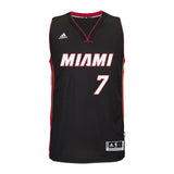 Goran Dragic Miami HEAT adidas Road Swingman Jersey Black - 1