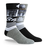 PKWY Dwyane Wade Remix Ebony & Ivory 3 Pack Socks - 3
