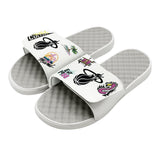 Islide Allover Patch White Sandals - 2