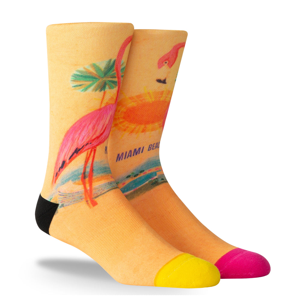 PKWY WADE REMIX Flamingoes Socks - featured image
