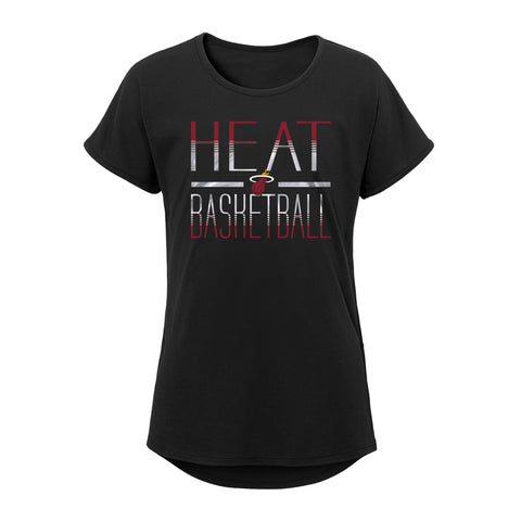 Miami HEAT Girls Love Side Tie Tee