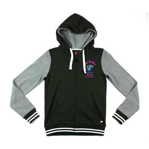 Sportiqe Miami HEAT Vice Nights Goldie Full Zip Hoodie