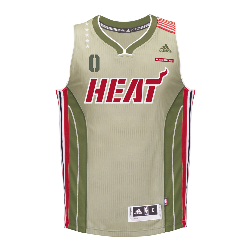 Josh Richardson Miami HEAT adidas Home Strong Youth Swingman Jersey - featured image