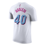Udonis Haslem Nike Miami HEAT Vice Uniform City Edition Youth Name & Number Tee - 2