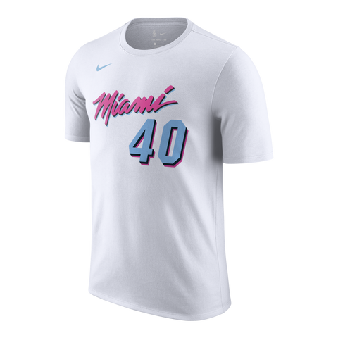 Udonis Haslem Nike Miami HEAT Vice Uniform City Edition Youth Name & Number Tee