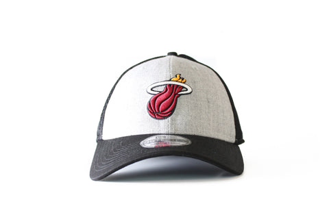 miami heat new era HEATHERED NEO CAP