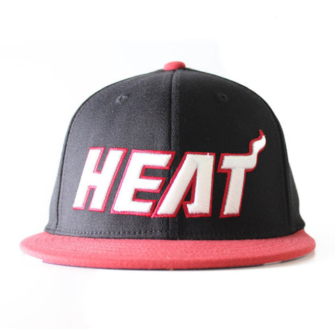 miami heat adidas FLAT VISOR FLEX Fitted