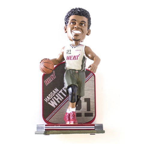 Forever Collectibles Miami HEAT Whiteside Home Strong Bobblehead