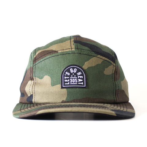Court Culture Camo 5-Panel Camper Adjustable Cap