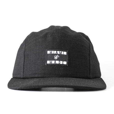 Court Culture Black 5-Panel Camper Adjustable Cap