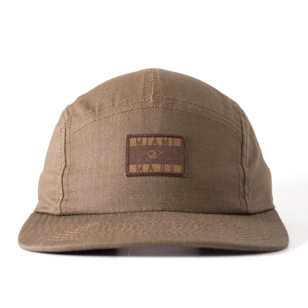 Court Culture Brown 5-Panel Camper Adjustable Cap - featured image