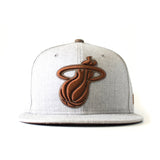 Tan/Brown Heather Strapback - 1