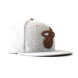 Tan/Brown Heather Strapback - 3