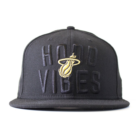 Court Culture Black Hood Vibes Fitted Hat