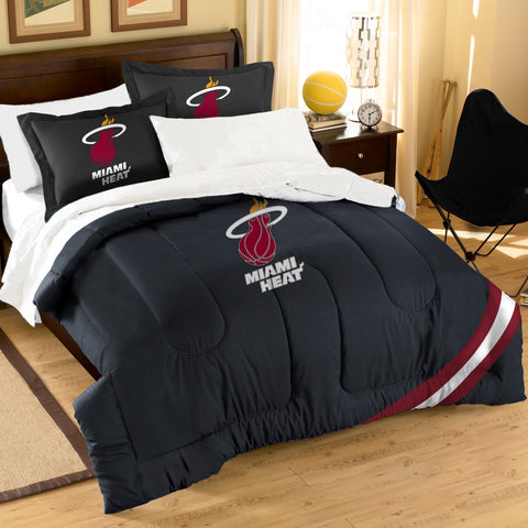 North West Miami Heat NBA Embroidered Twin/Full Comforter Set