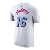 James Johnson Nike Miami HEAT Vice Uniform City Edition Youth Name & Number Tee - 2