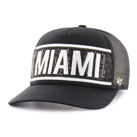 '47 Brand Miami HEAT Ladies Glimmer Text Snapback Black