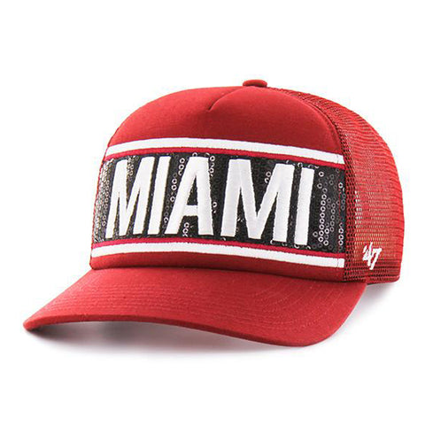 '47 Brand Miami HEAT Ladies Glimmer Text Cap Red