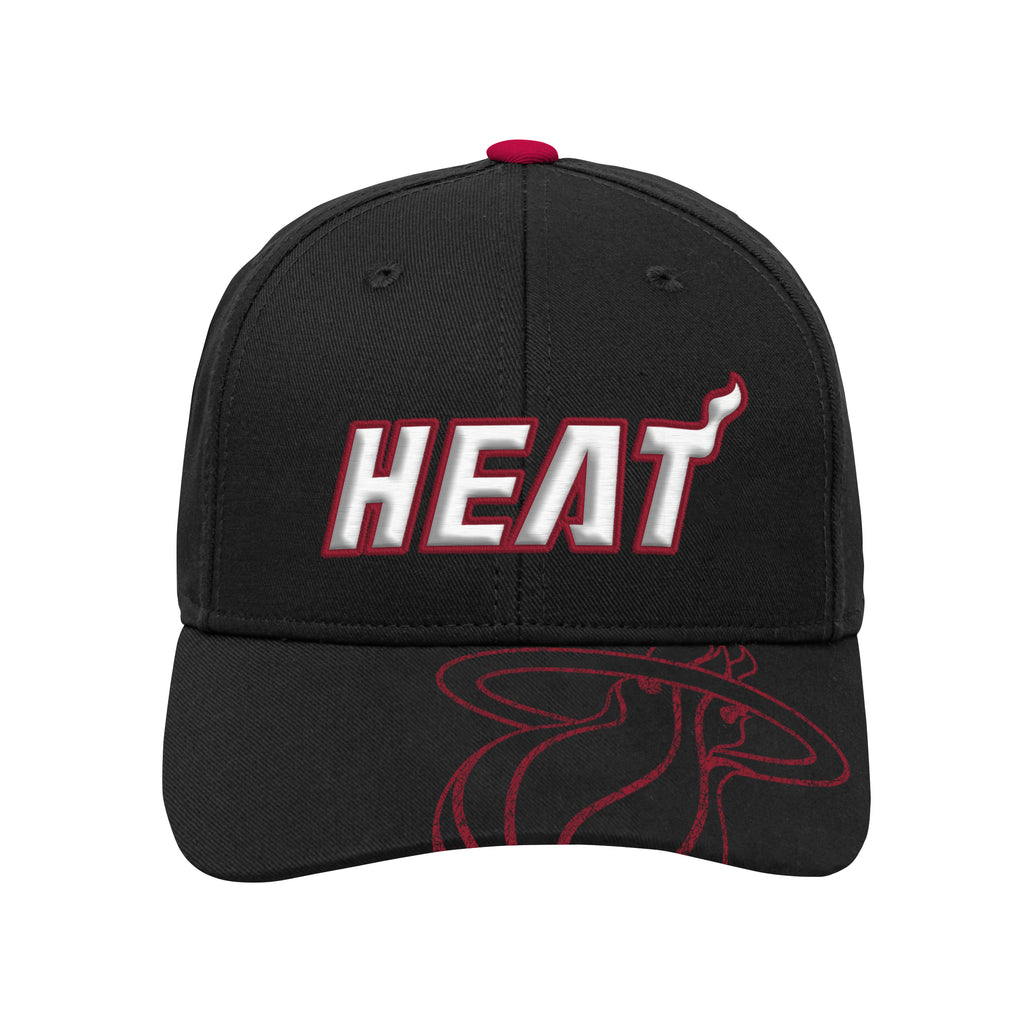 Miami HEAT Kids Center Structured Adjustable Hat - featured image