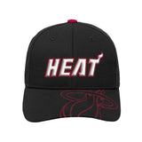 Miami HEAT Kids Center Structured Adjustable Hat - 1
