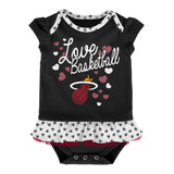 Miami HEAT Toddler Little Sweet Bib & Bootie - 2