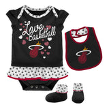 Miami HEAT Toddler Little Sweet Bib & Bootie - 1