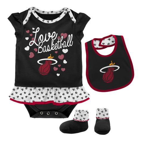 Miami HEAT Newborn Little Sweet Bib & Bootie