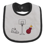 Miami HEAT 3 Piece Bib Set - 2