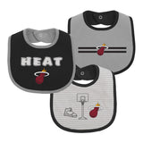 Miami HEAT 3 Piece Bib Set - 1