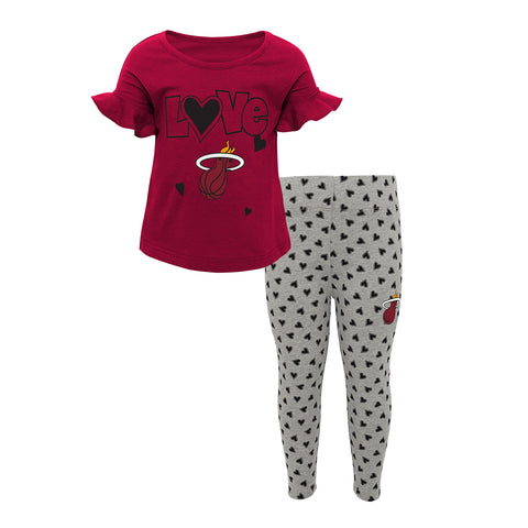 Miami HEAT Girls Sweet Heart Pant Set
