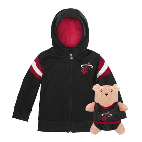 Cub Coats 2 in 1 Full Zip Team Hoodie and Plush Animal