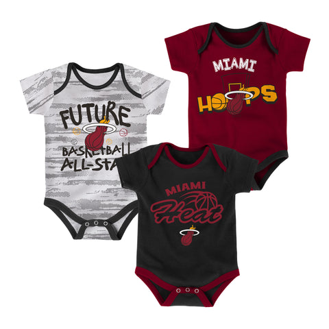 Miami HEAT 3 Piece Body Suit Set
