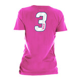 Dwyane Wade New ERA Ladies Name & Number V-Neck Tee - 2